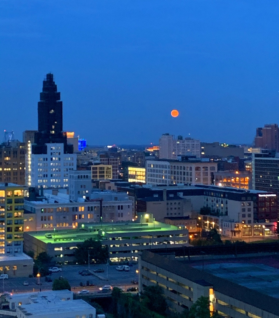 full moon over Philly