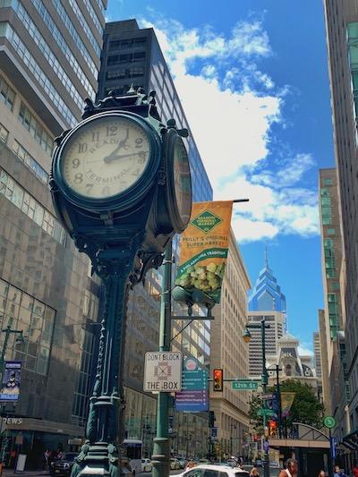 Clock in Philadelphia