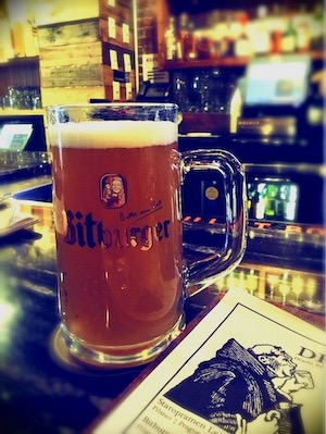 a mug of cold beer