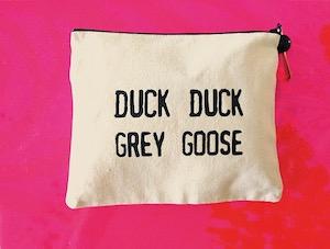 duck duck grey goose purse