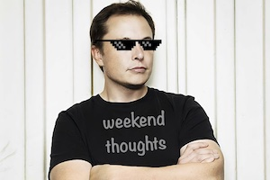 Elon Musk in tee shirt