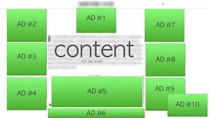 web page ad layout