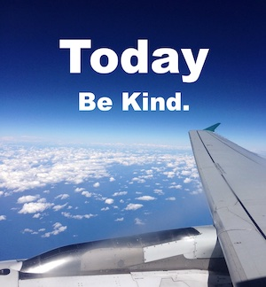 be kind, airplane wing