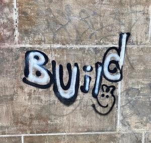 graffiti of build