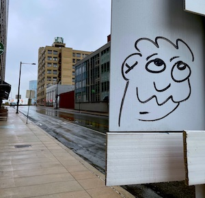 face on sign