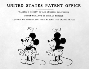 Mickey Mouse Patent image