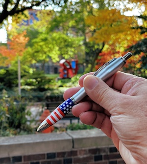 USA Pen after voting
