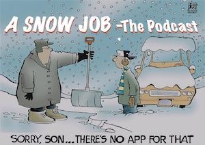 shoveling cartoon