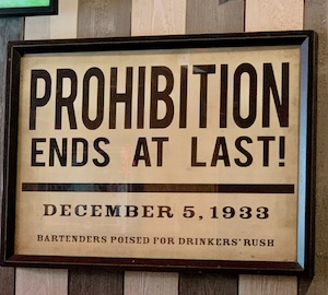 probiition ends sign