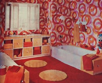 a 1970's bathroom look