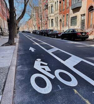 bike lane in Philadelphia