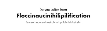 do you suffer from this big word