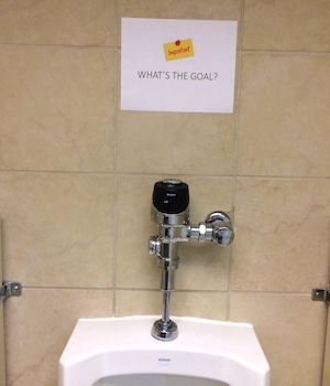 urinal in office building