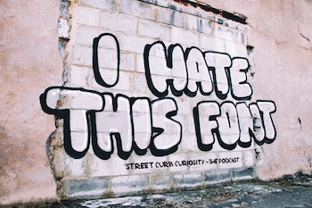 funny hate graffiti in London