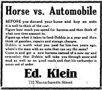 horse versus automobile