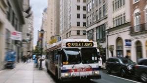 Smile bus in Philadelphia