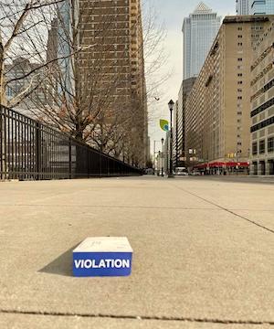 violation envelop on the street in Philadelphia