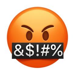 angry cursing emoji