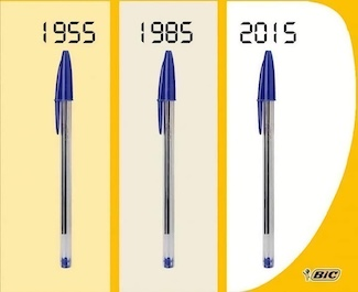 Bic pen changes over the decades