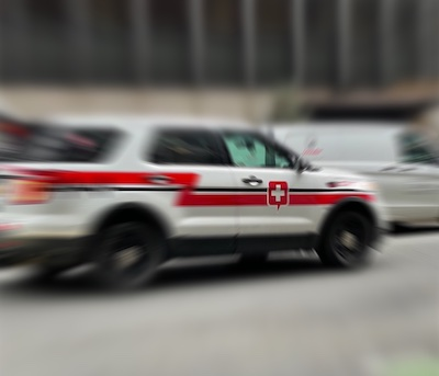 emergency vehicle on street