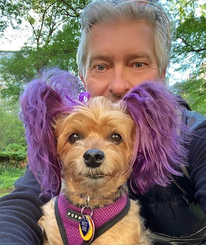 Puppy Macy Jane and me in the park.