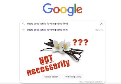 google search of vanilla flavoring