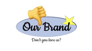 bad brand loyalty logo with thumbs down