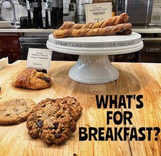 Bakery goods for breakfast