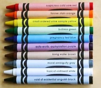 unique color crayon names