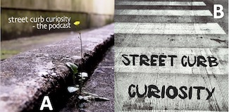 Street Curb Curiosity The Podcast Show logo image choice