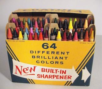 Crayola Crayon box of 64 with sharpener