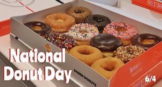a box of a dozen donuts