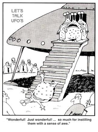 Gary Larson cartoon about UFO