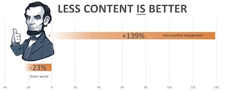 Less content is better