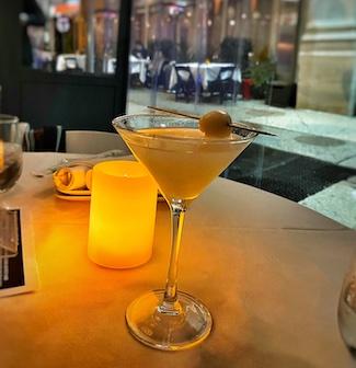 Martini at dinner