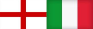 England and Italian flag