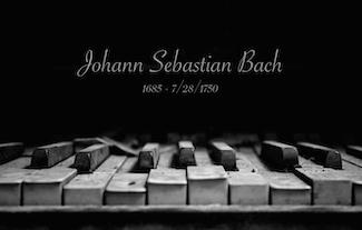 Johann Sebastian Bach death day today in 1750; old piano image
