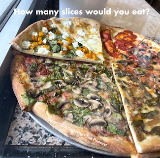 pizza slices promoting the podcast Street Curb Curiosity