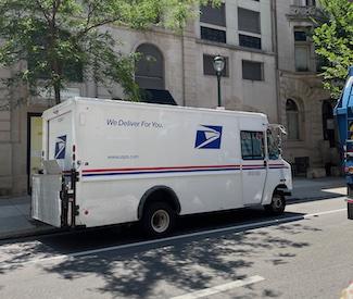 US Postal Service truck in Philadelphia