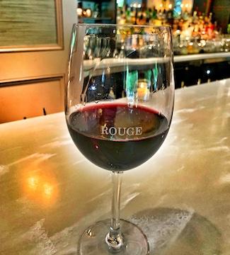 Cabernet wine in glass at Rouge Restaurant in Philadelphia