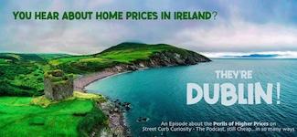 Ireland coastline promoting the podcast of Street Curb Curiosity
