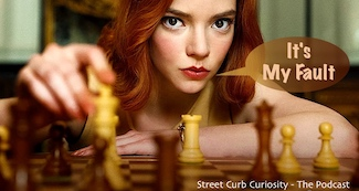 Queen's Gambit chess image to promote podcast