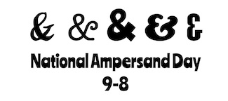 National Ampersand Day examples