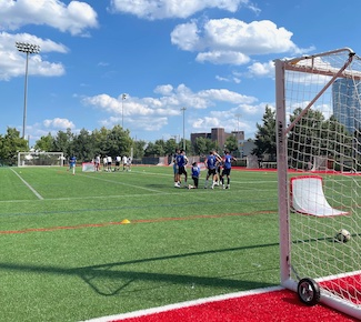football soccer practice field