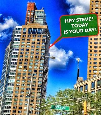 National Steve Day September 24 street signs