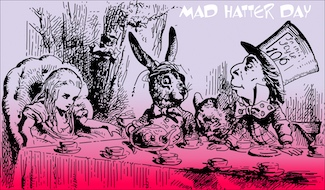 mad hatter illustration to celebrate the holiday of Mad Hatter Day